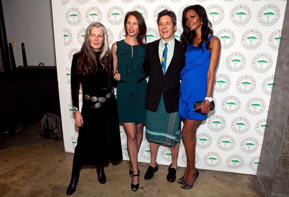 Gloria Flora Christy Turlington Burns Carter Coleman and Millen Magese attend the African Rainforest Conservancy's 20th anniversary Artists for...