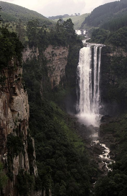 The imposing Karkloof Falls along The Midlands Meander of South Africa. A dream destination for anyone's travel bucket list. See more; www.midlandsmeander.co.za