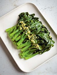 Chinese broccoli in ginger sauce
