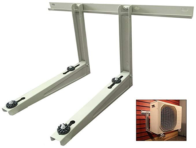Outdoor Mounting Bracket For Ductless Heat Pump Air Conditioner Systems Condenser Mounting Rack Hold Up To 300 Lbs Review Ductless Heat Pump Heat Pump Air Conditioner Heat Pump