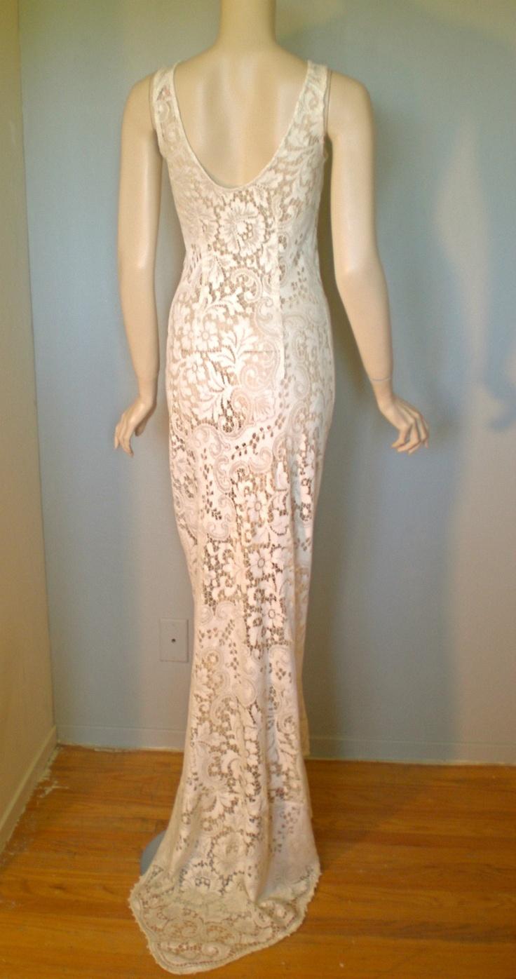 Antique cream wedding dress   best Vintage Love images on Pinterest  Vintage fashion s