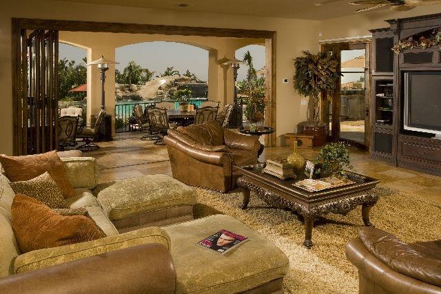 ✿ڿڰۣ(̆̃̃•Aussiegirl  Family room open to pool: Living Rooms Dining, Rooms Foyers Studies, Decorating Ideas, Family Rooms, Room Ideas, Pool Www Kellyferm Com, Pool Www Designconcepts Com