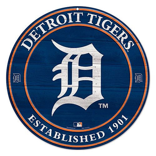 "$39  20"" Detroit Tigers Wood Sign - MLB.com Shop"