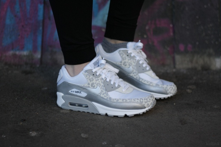 Womens Nike Air Max 90 Print Black Hot Pink Silver
