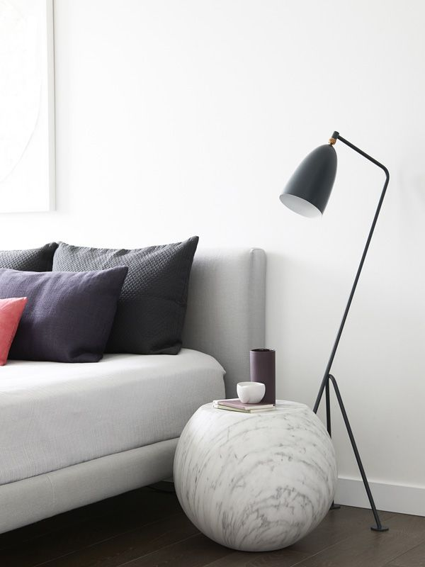 gubi grasshopper lamp + cappellini bong side table | the design files
