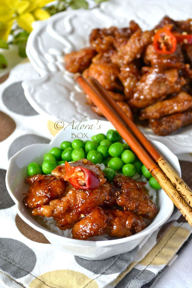 CHILLI GARLIC PORK - def gotta try this! Might do chicken ;)