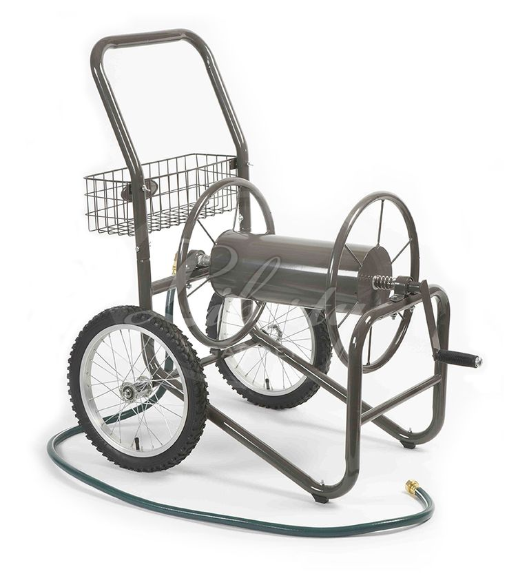 The Model 880 Two Wheel Hose Cart from Liberty Garden Products. #lgphosestorage #diy #hosecart