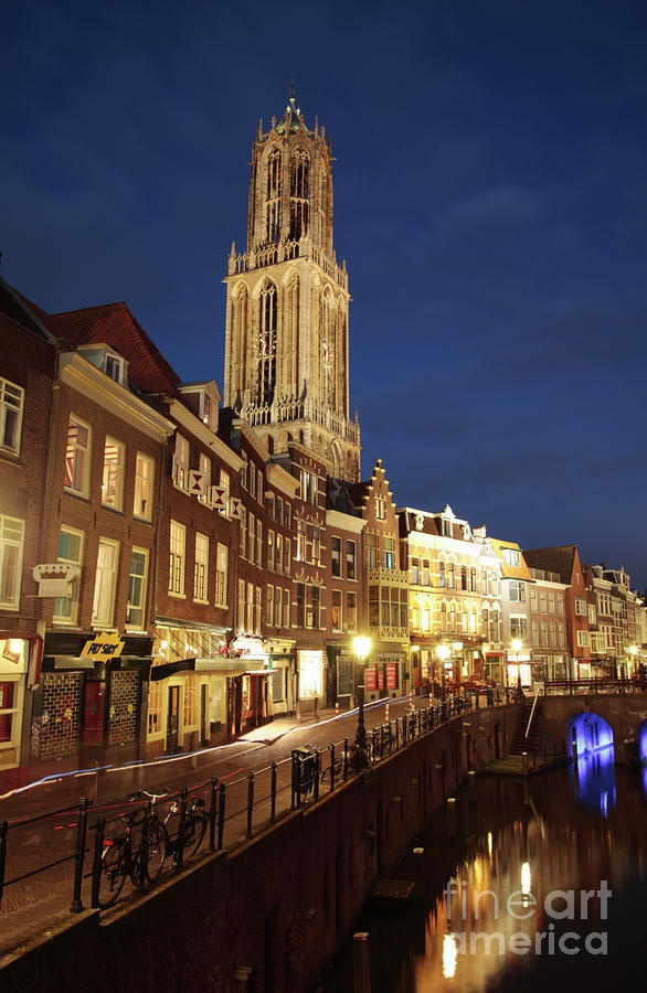 Utrecht Cathedral at Night; Utrecht, Netherlands; photo by Neil Overy