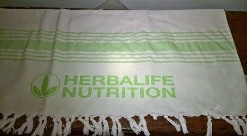 Beach+Towel+branded+HFF+and+Herbalife+Nutrition Towel+size+-+90+cm+x+180+cm only+5+pieces