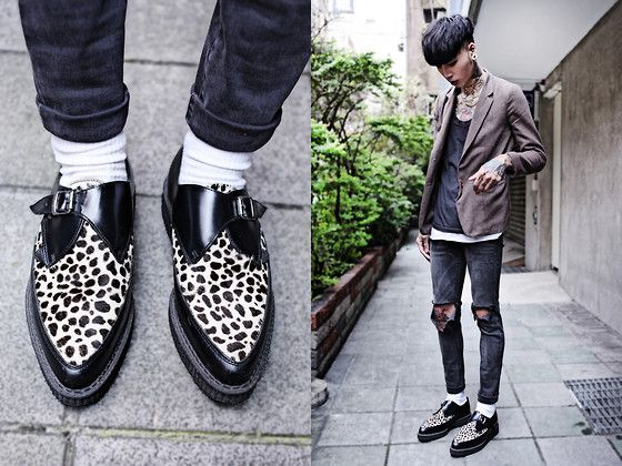 Underground Shoes, Uniqlo Socks, Vintage Blazer, Topman Top, Topshop Skinny
