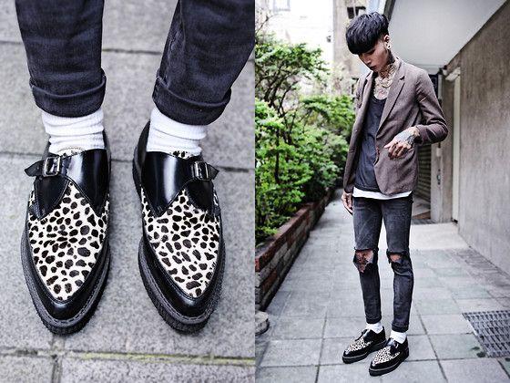 Underground Shoes, Uniqlo Socks, Vintage Blazer, Topman Top, Topshop Skinny