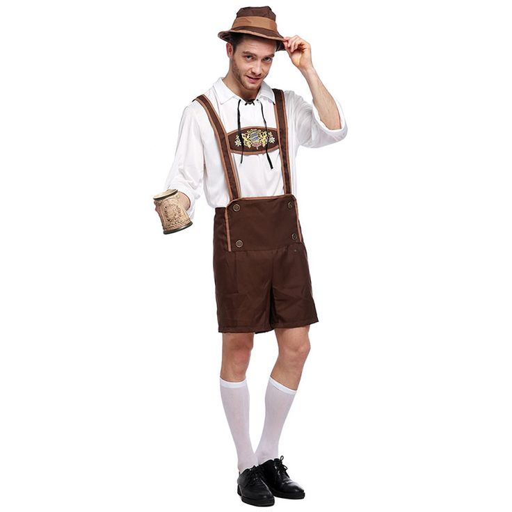 German Oktoberfest Clothing Halloween Beer Costume Men Bavarian Beer Guy Carnival Party Cosplay Outfit Sexy Costumes For Adults #Affiliate