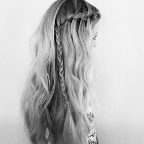 partial waterfall braid