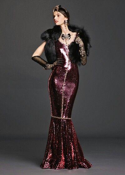 Dolce & Gabbana 2016 Summer Woman Collection - Fashion Evening Dress.