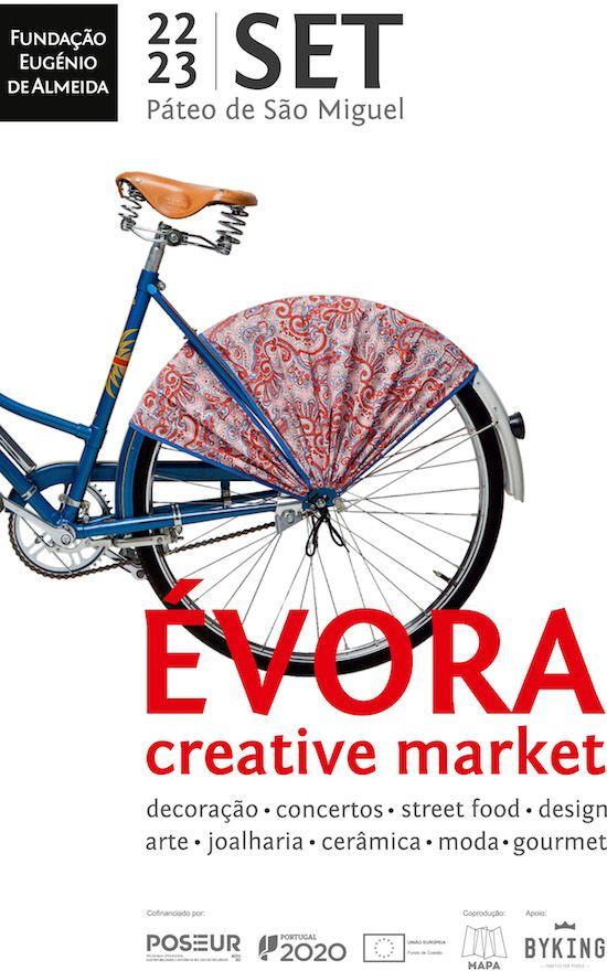ÉVORA CREATIVE MARKET //  PÁTEO DE SÃO MIGUEL // ÉVORA  //  22 e 23 de SETEMBRO // Sexta-feira das 17h às 23H // Sábado das 12h às 23H  //