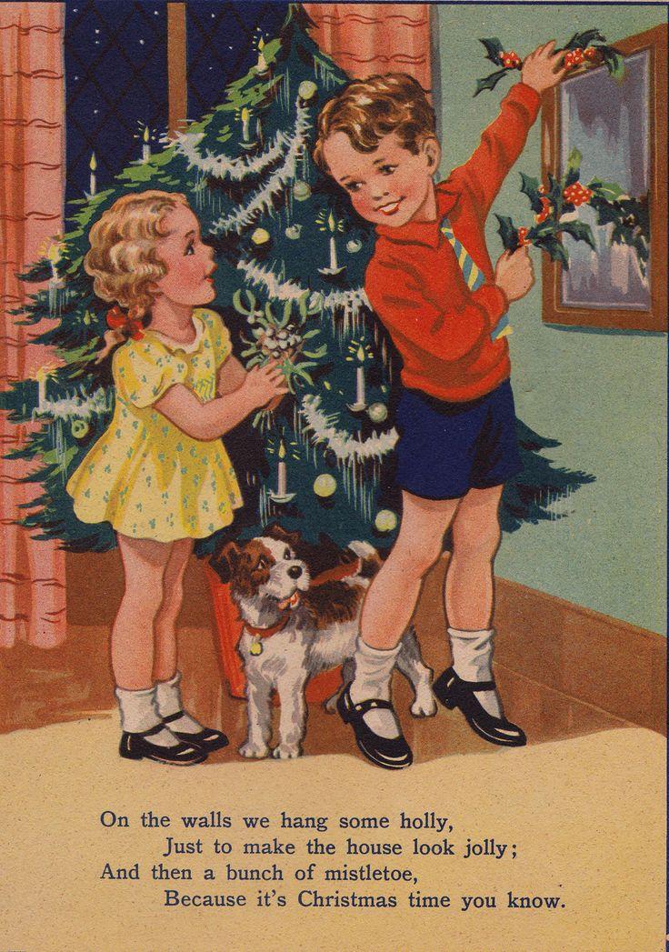Vintage 1930s Christmas Postcard