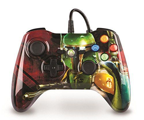 Star Wars Boba Fett Xbox 360 Wired Game Controller