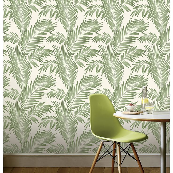 Arthouse Wallpaper Tropical Palm. Much brighter in real life than this pic suggests