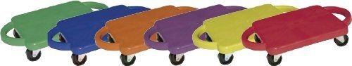 Champion Sports Multi-Colored Standard Scooter Board with Handles (Set of 6) by Champion Sports. $80.56. Scooter boards are a fun indoor activity that kids will love during P.E. or recess time! Students can play scooter hockey, make a scooter train, race, or create their own activities on the Champion Sports Standard Scooters. These 12in scooters feature handles to help your students easily steer and maneuver themselves around. The scooters feature non-marking rubber swivel...
