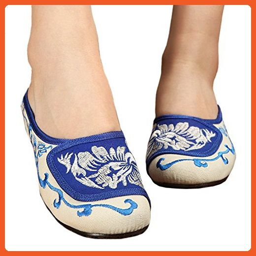 Old Beijing Cloth Embroidered Shoes Flax Slippers 40 - Athletic shoes for women (*Amazon Partner-Link)