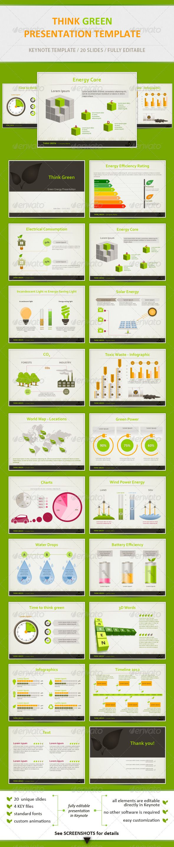 Think Green - Eco Friendly Keynote Template - Keynote Templates Presentation Templates