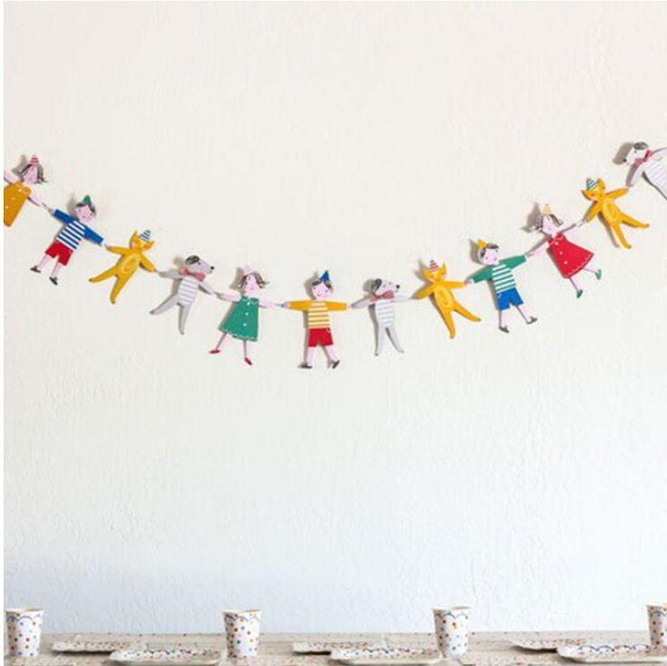 Ручной работы красочные мальчик девочка кошка собака бумаги флаги овсянка вымпел душа ребенка день рождения ну вечеринку баннер детская комната декор ну вечеринку поставляет купить на AliExpress