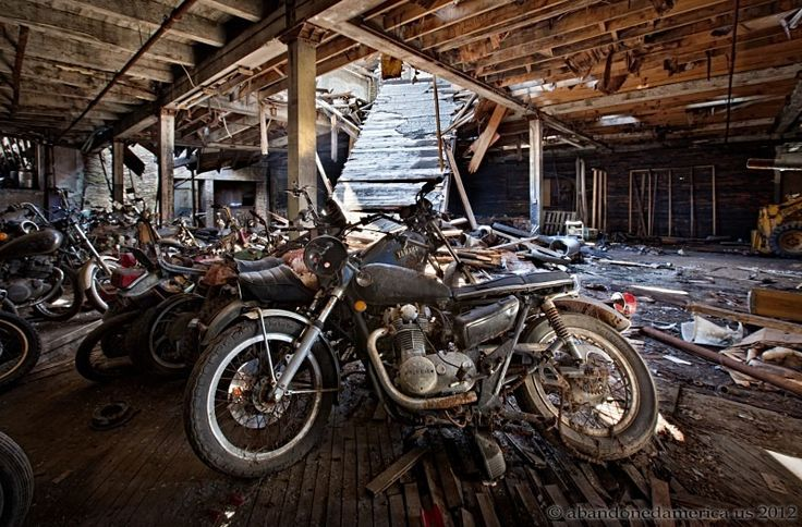 Kohl's Motorcycle Salvage, Lockport NY - Matthew Christopher's Abandoned America - his website is awesome!