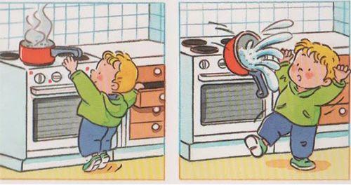 Bộ hình cảnh báo nguy hiểm với trẻ nhỏ --> Áp dụng cho các sản phẩm nhà bếp