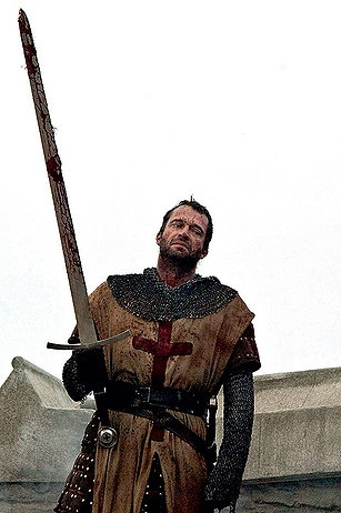 chainmail (with long sleeves) and* studded leather  James Purefoy
