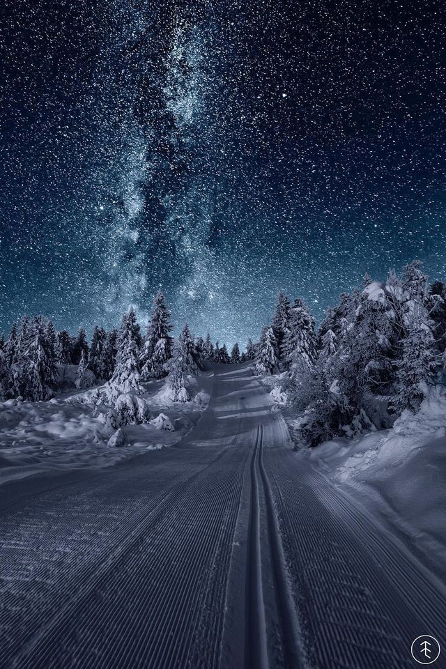 Looks like the inside of a snow globe! Or an adventure in a book!