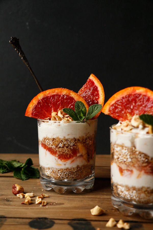 Blood Orange Amaranth Parfait (gluten-free & vegan)
