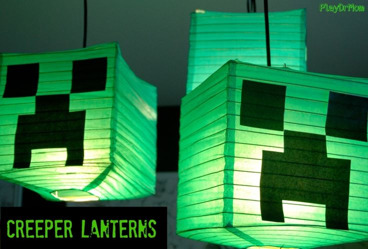 Create these super easy Creeper Lanterns the your Minecraft lovers in your life! PlayDrMom used them to decorate for her son's party … but would be great for anytime!