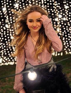 Sabrina Carpenter rocks pink for We'll Be The Stars.
