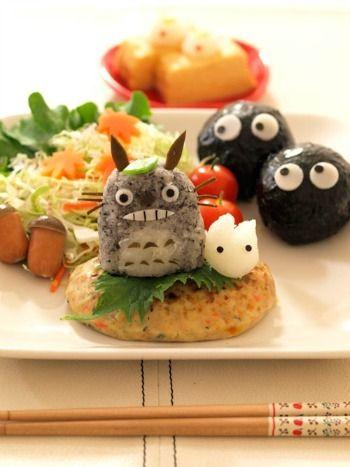 totoro hamburg plate
