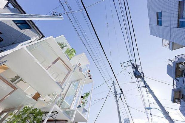 прозрачный дом Япония