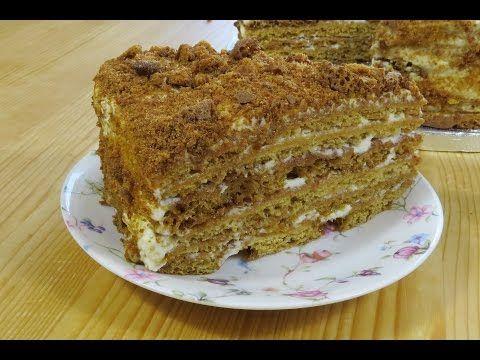 """Медовый торт """"Посольский"""" - YouTube"""