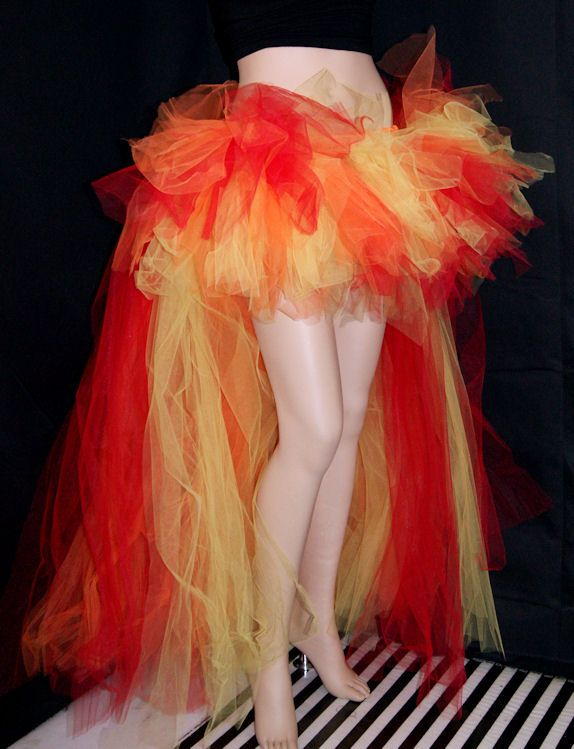 "An idea for a ""Girl on Fire"" Halloween costume. This could be the flames on the bottom of the skirt!"