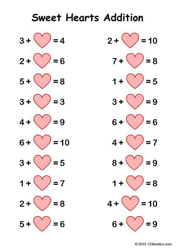 Free Valentine S Day Worksheets 123 Kids Fun Apps Valentine Worksheets Valentine Math Worksheet Printables Free Kids