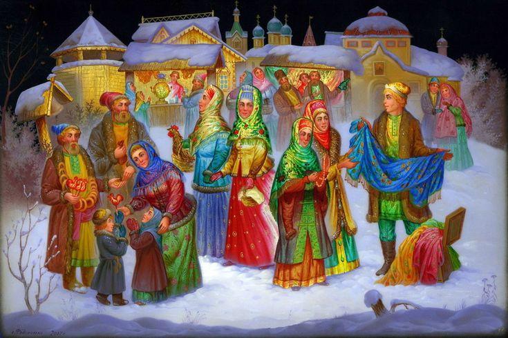 NewPix.ru - Старая Русь в Федоскинских миниатюрах