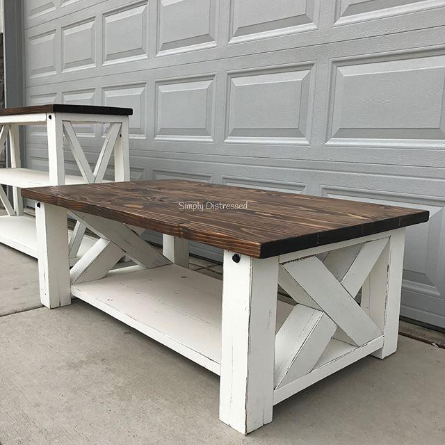 Chunky Farmhouse Coffee Table Coffee Table Farmhouse Woodworking Table Plans Coffee Table