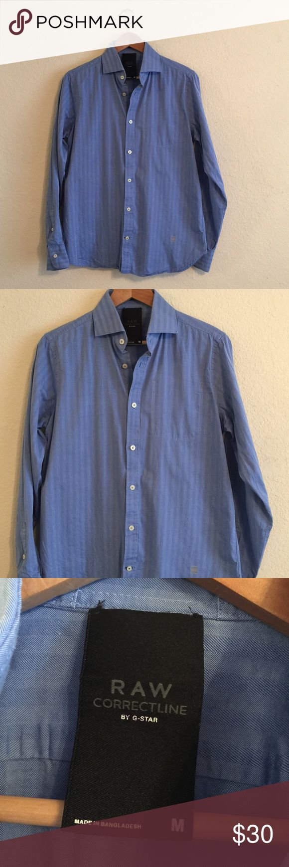 G STAR RAW men's CorrectLine Dress shirt M G Star Raw men's CorrectLine Button up shirt .  Size: Medium.  In Great condition! If you have any questions feel free to ask! G-Star Shirts Dress Shirts
