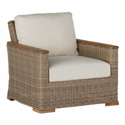 Summer Classics Pacific Lounge Patio Chair with Cushions Color: Tropical Silhouette Midnight