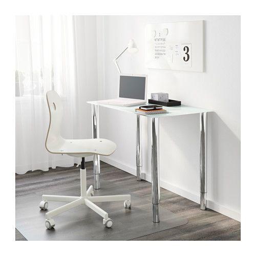GLASHOLM / GERTON Pöytä - lasi valkoinen/kromattu - IKEA