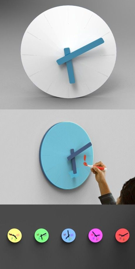 Diy Wall Clock Can Make Arms And Numbers Glow In The Dark