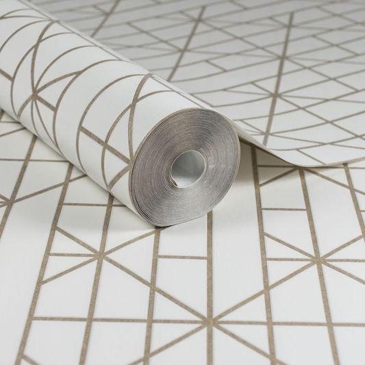 Linear Gold Wallpaper