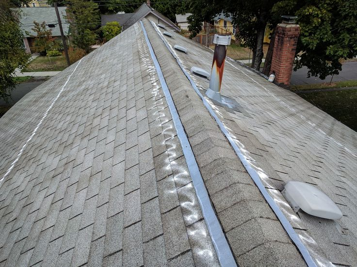 Cleared of moss and treated! Moss removal, Roof