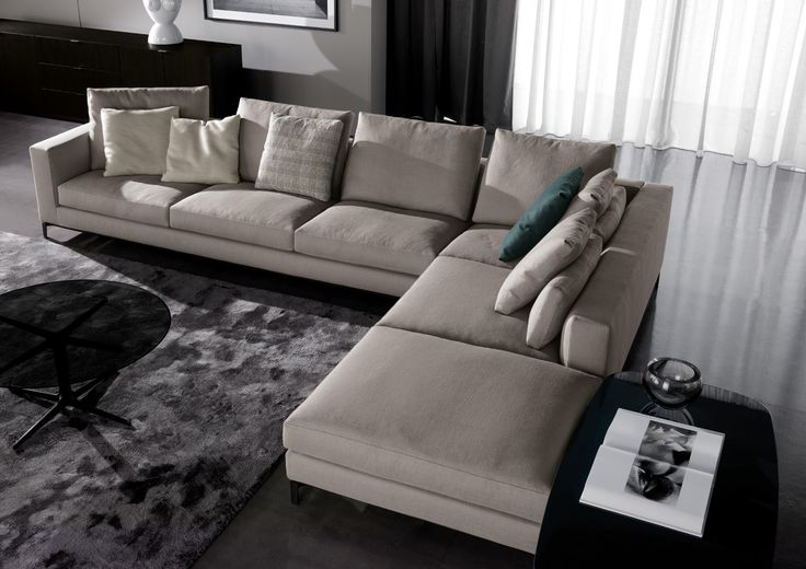 great l shape sofa setup from the andersen collection of minotti. Black Bedroom Furniture Sets. Home Design Ideas