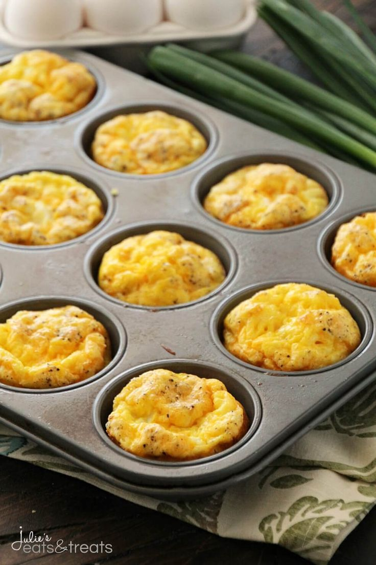 Ham & Cheese Egg Muffins ~ Quick, Easy and Delicious Breakfast or Snack! Fluffy Egg Muffins with Ham & Cheese! ~ http://www.julieseatsandtreats.com