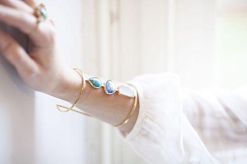 Precious blue ocean - bracelet