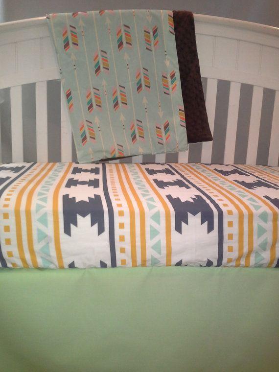 Gender Neutral crib bedding.  Baby Blanket & by PattyLuDesigns